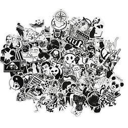 graffiti stickers black white smooth