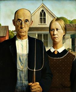 grant wood s american gothic art reproduction