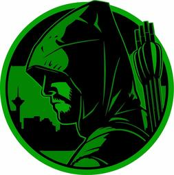 Green Arrow Cartoon Comic Sticker laptop wall car phone Kids