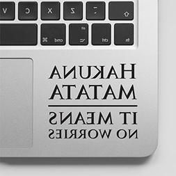 Decal & Sticker Pros Hakuna Matata Macbook Sticker Quote Dec