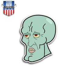 Handsome Squidward Meme Sticker Decal Phone Laptop Window Vi