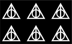 Harry Potter DEATHLY HALLOWS phone laptop vinyl decal sticke