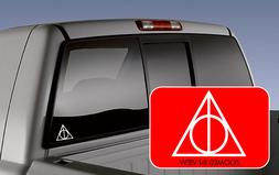 HARRY POTTER DEATHLY HOLLOWS VINYL DECAL car truck laptop ma