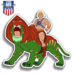 He Man and Battle Cat cartoon Sticker Decal Laptop Car Windo