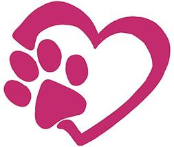 heart and paw print vinyl decal 5