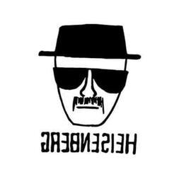 Heisenberg - Breaking Bad Vinyl Decal Laptop Decal Bumper St