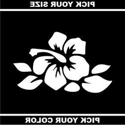 Hibiscus 02 Vinyl Sticker / Decal *Hawaii *Surf *Tropical *B