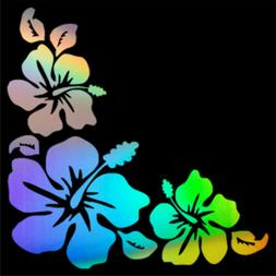 Hibiscus Flowers Car  Window Bumper Wall Laptop Vinyl Decal