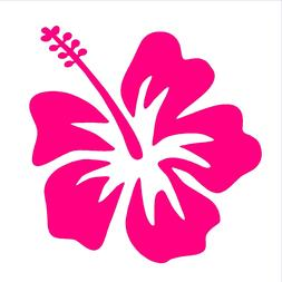 Hibiscus Vinyl Decal Hawaiian Aloha Flower Car Window Laptop