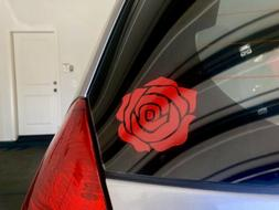 High Quality 3 Inch Red Rose Flower Vinyl Decal Sticker For