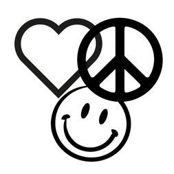 Hippie Vinyl Decal Sticker for Car, Truck, Laptop, Tumbler,