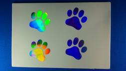 Holographic PAW PRINTS Car Vinyl Window Decal Sticker 4 1.84