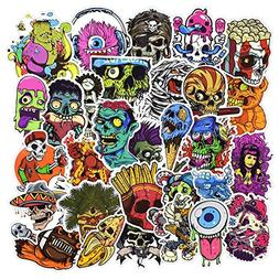 50 Pcs Horror Laptop Stickers, Car Bumper Stickers for Motor