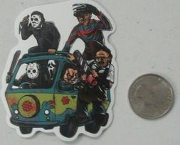 Horror sticker x 2 PCS BOGO scobby doo jason freddy skate ce