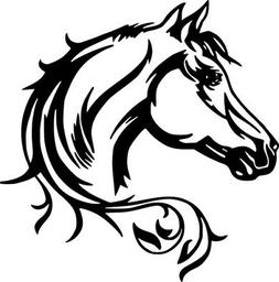 Horse Head Beauty Horses Art Car Truck Wall Window Laptop Vi