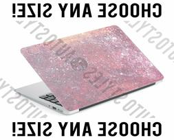 Hot Pink Ombre Glitter Laptop Skin Decal Sticker Tablet Skin