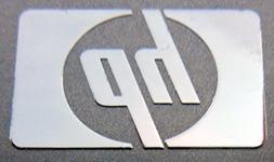 HP Metal Sticker / Emblem / Badge 16 x 25mm