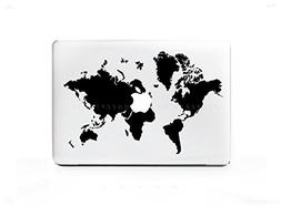 """HQ World Map Sticker Decal For MacBook Pro 13"""" 15"""" 17"""" Unive"""
