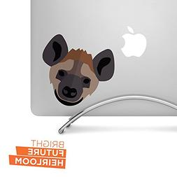 "Hyena - 5"" wide printed vinyl decal - For MacBook, car, lapt"