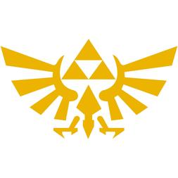 "Legend of Zelda Hyrule Crest TriForce Logo 2"" Decal Sticker"