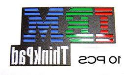 10 pieces of Original IBM Thinkpad Sticker / Badge 16 x 27mm