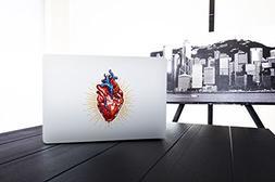 Laptop Stickers Macbook Decal - Removable Vinyl - Heart Deca