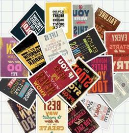 Inspirational Quotes 50 Piece Sticker Bomb Decal Car Skatebo