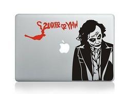 Joker Why So Serious Laptop Apple Decal Sticker Macbook Air/