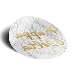 Kappa Delta Sorority Light Marble with Gold Script Sticker D