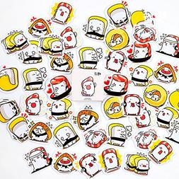Vann92 45 Pieces/Pack Kawaii Sushi Adhesive DIY Sticker Stic
