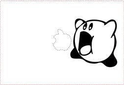 KIRBY NINTENDO VIDEO GAME MOUTH OPEN VINYL STICKERS SYMBOL 5