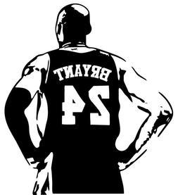 Kobe Bryant vinyl decal sticker basketball lakers 24 8 car w