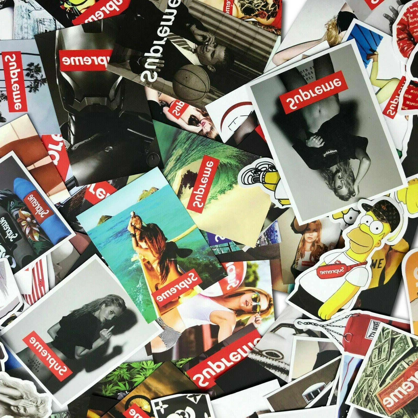 1-100Pcs Supreme laptop Car Skateboard