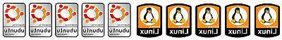10 linux ubuntu stickers computer laptop badge