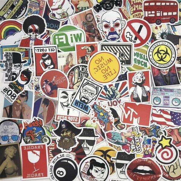100/200/300 Skateboard Stickers Vinyl Luggage Decals Dope Sticker