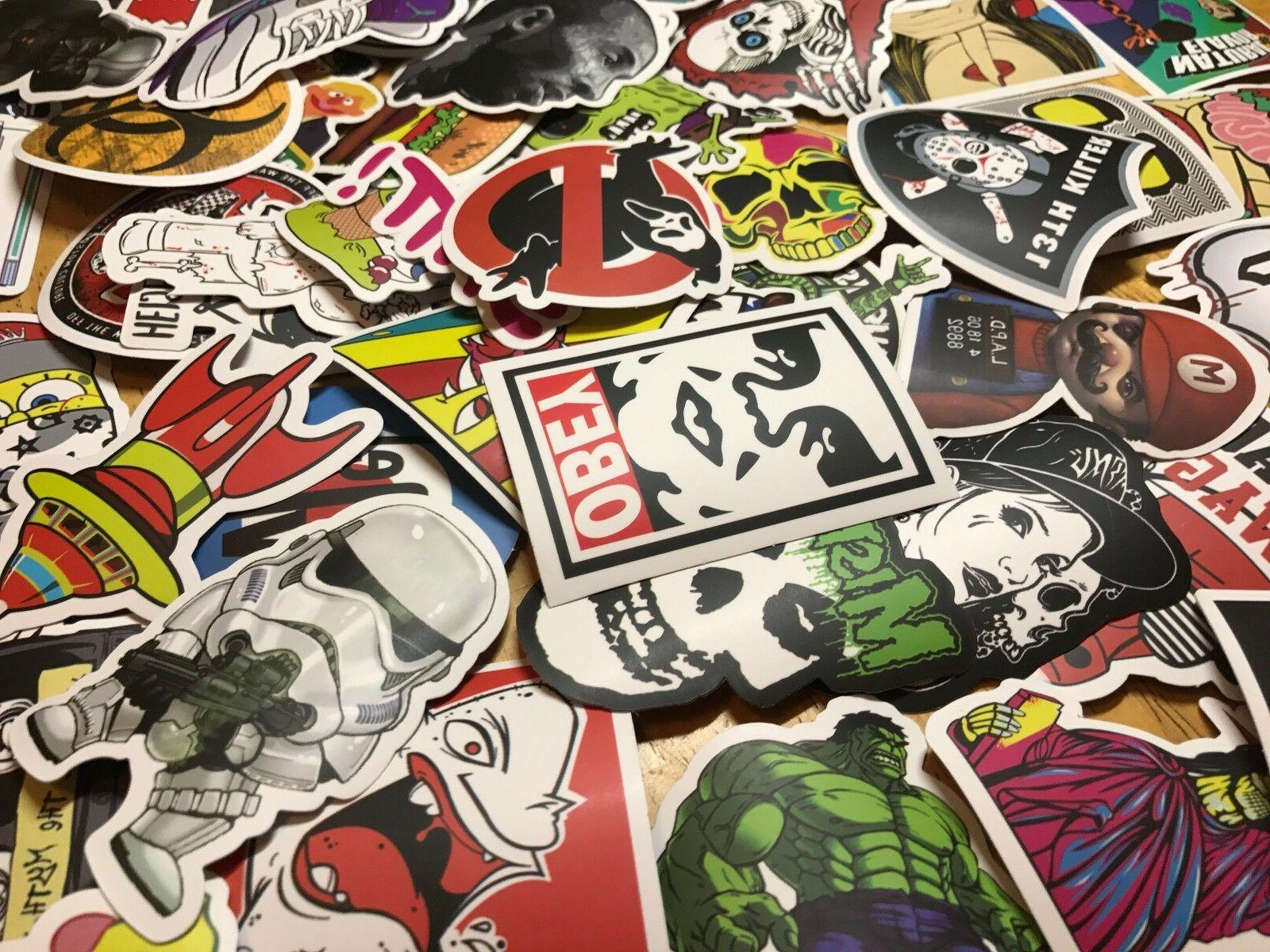 100 Skateboard Stickers bomb Vinyl Laptop Luggage Decals Dop