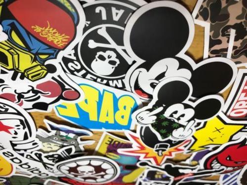 100 Skateboard Stickers bomb Vinyl Laptop Luggage Decals Dop