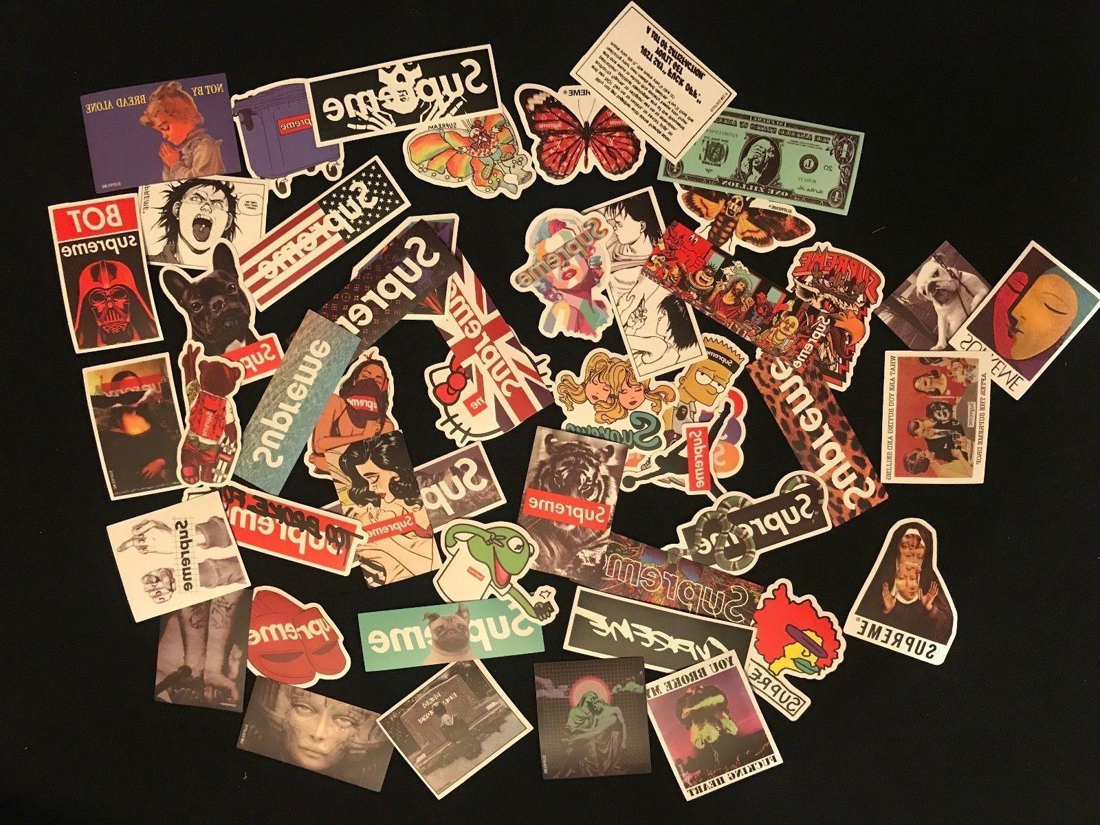 100 Supreme Longboard Vintage Vinyl Luggage Decals