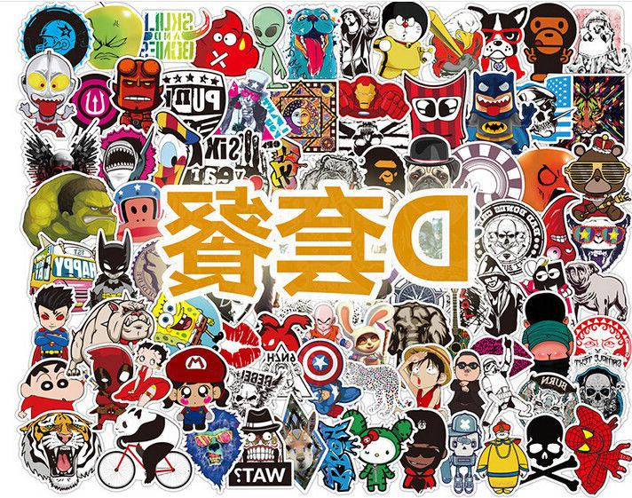 100 Stickers Multi Wall Bomb Laptop Luggage Decals Decor