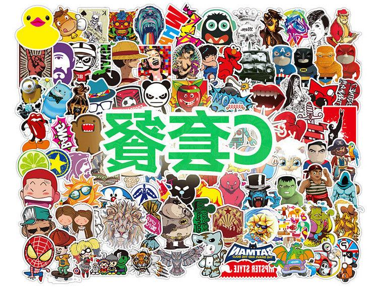 100 Car Multi Wall Laptop Luggage Decals Dope Sticker Funny Decor
