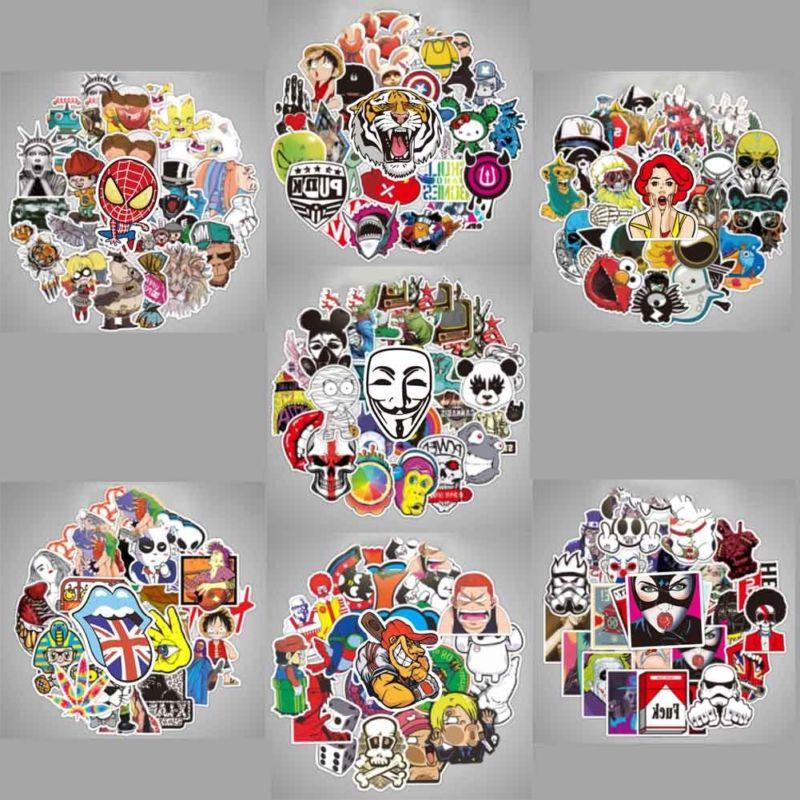 100 Stickers Multi Wall Bomb Luggage Decals Decor
