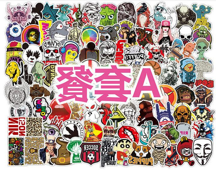 100 Car Stickers Multi Wall Bomb Decals Dope Sticker Decor