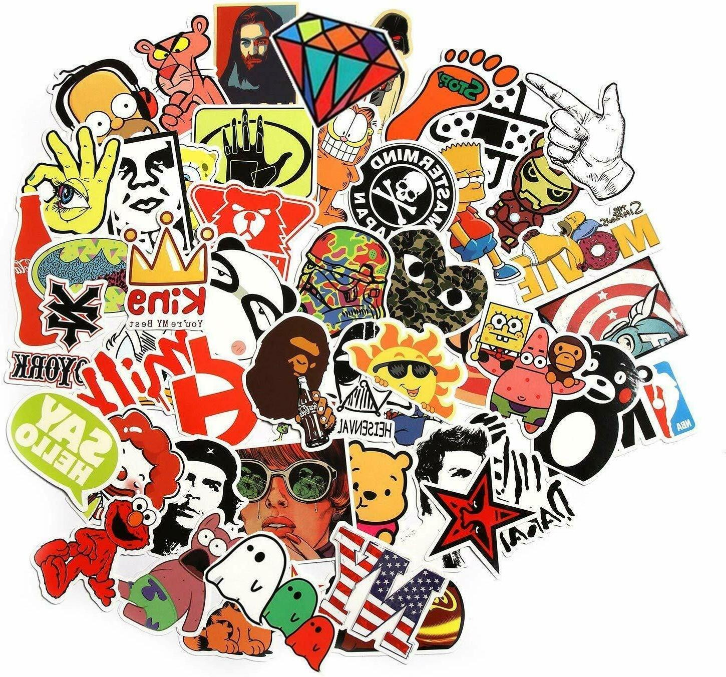100 Stickers Funny Cute Car Laptop Waterproof Cool