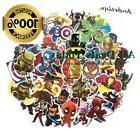 100 pcs Random Cool Super Hero Stickers for Skateboard Lugga