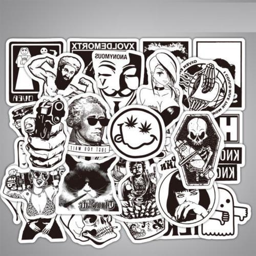100 pcs Skateboard Stickers Graffiti Laptop Sticker Car