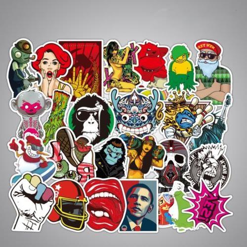 100 pcs Stickers Graffiti Car Mix