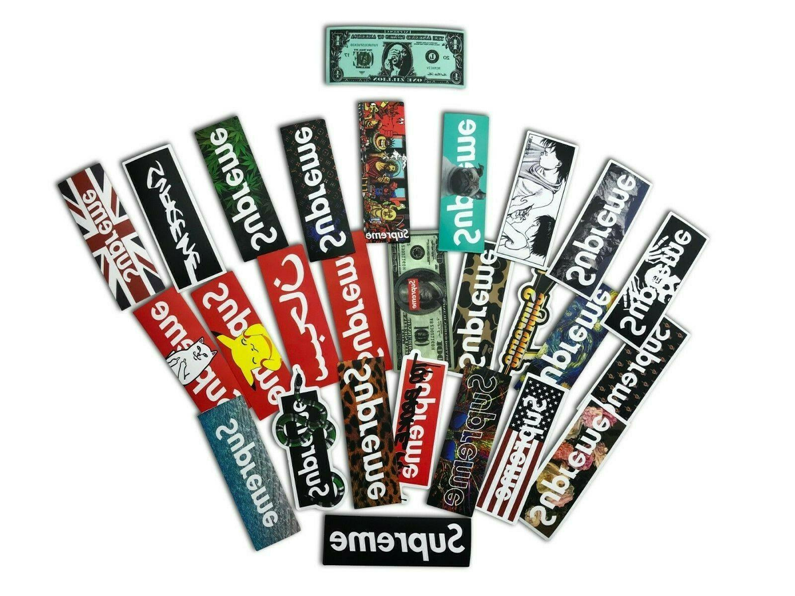 100 Supreme Longboard Vintage Sticker Laptop Luggage
