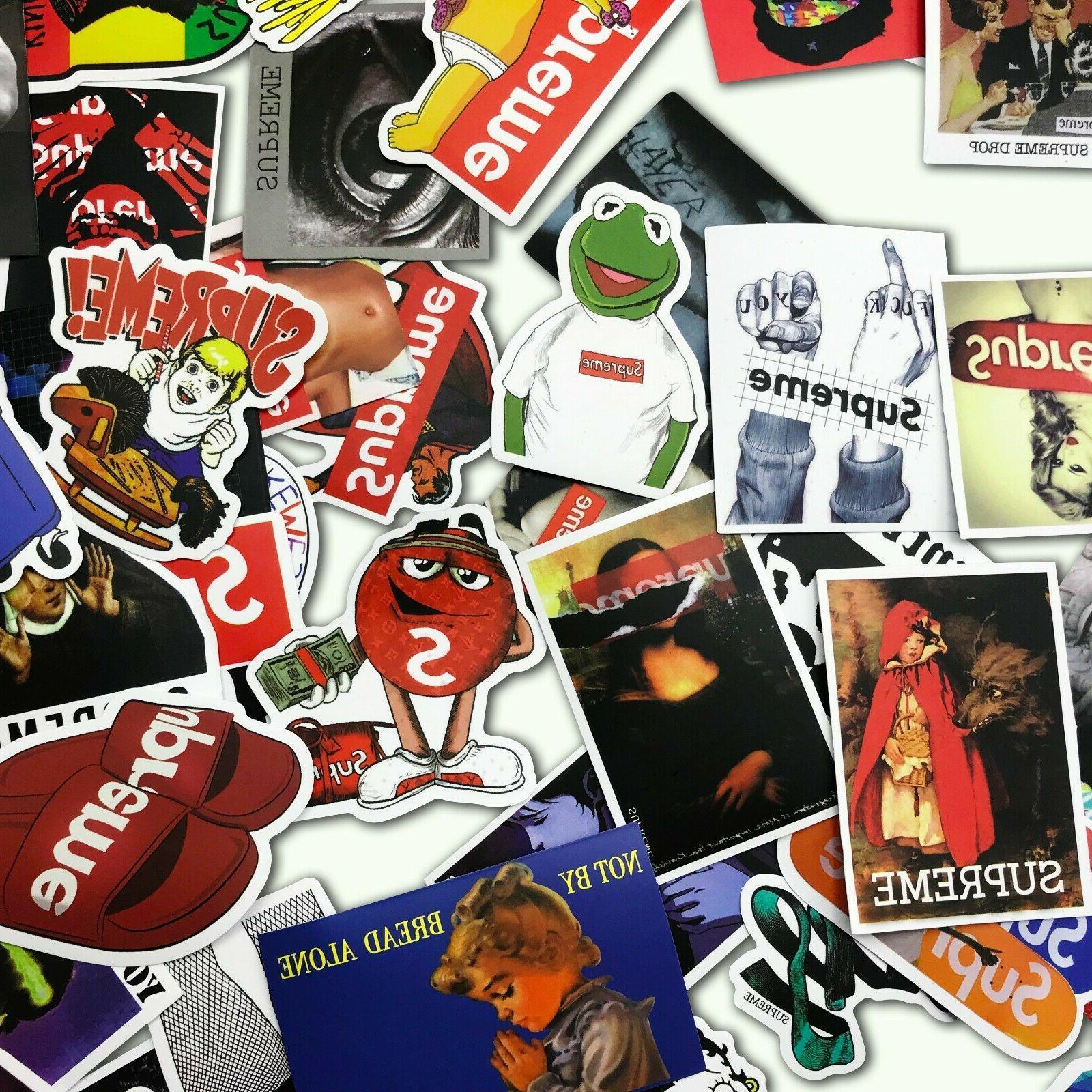 100 PCS Longboard Vintage Sticker Luggage
