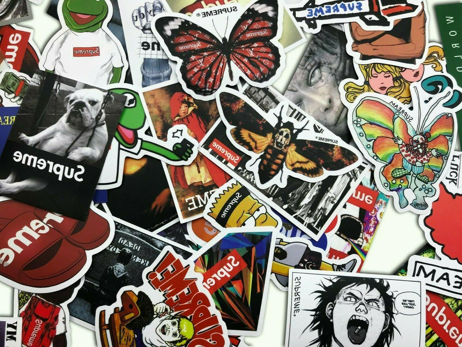 100 Supreme Longboard Vintage Sticker Luggage