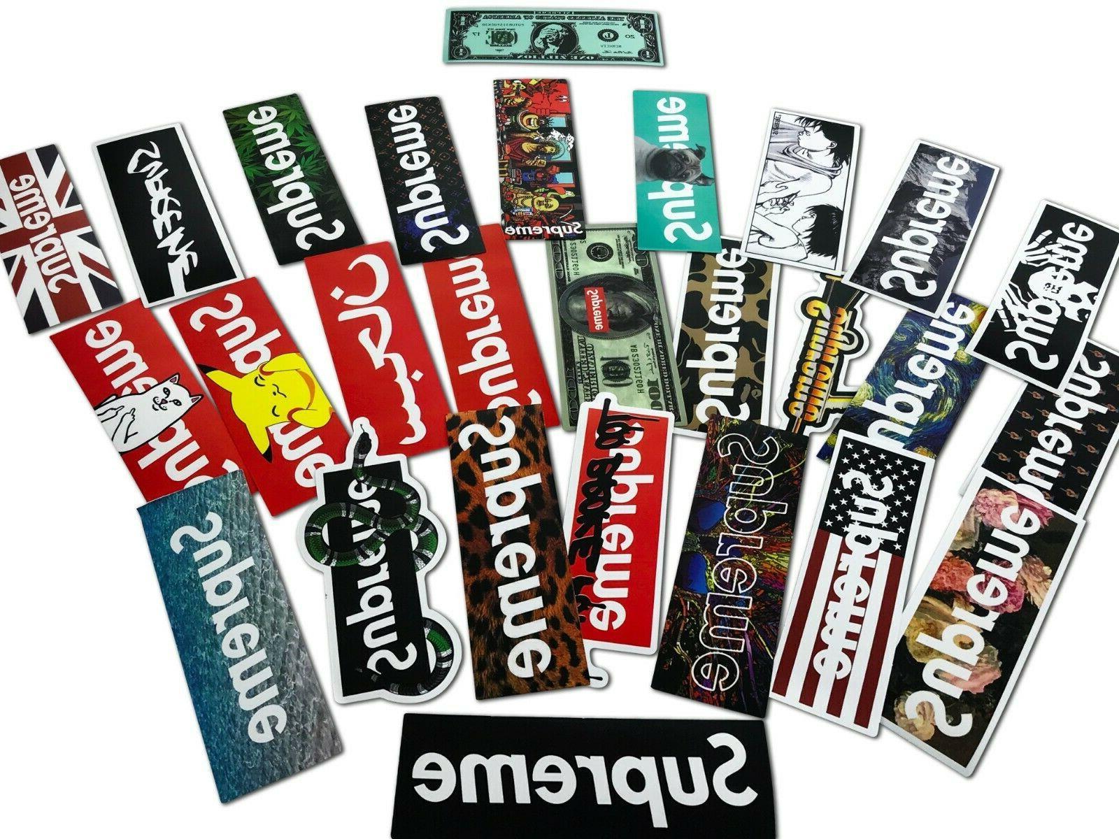 100 pcs supreme skateboard longboard vintage decals